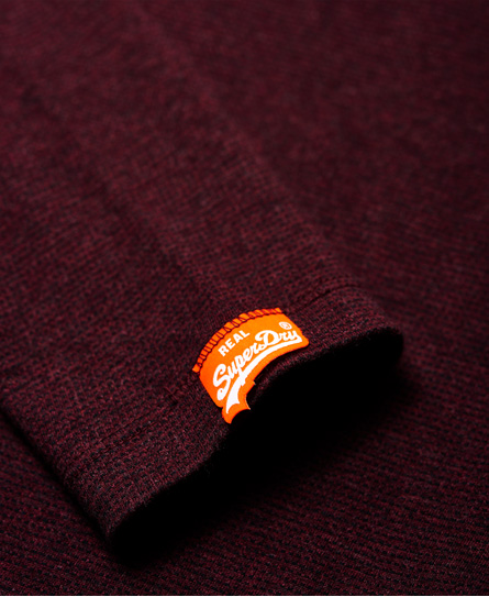 Superdry Orange Label 系列長袖紋理 T 恤