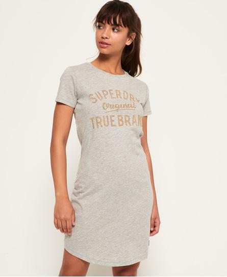 Superdry Superdry Slimfit T-shirtkjole med dekorativt logo