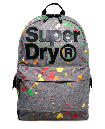 Superdry Superdry Montana rygsæk med tofarvet logo og splatterdesign