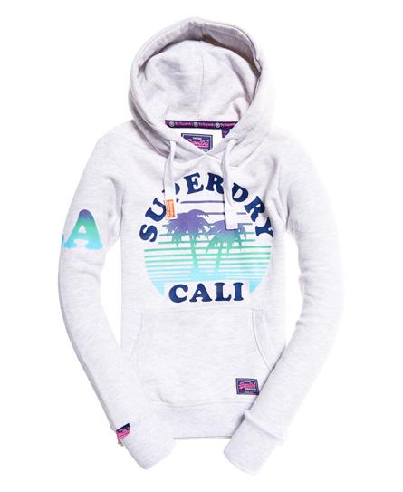 Superdry California Sunset Hoodie | Bekleidung > Sweatshirts & -jacken > Hoodies | Hellgrau | Material: baumwolle 58%|polyester 42%| | Superdry