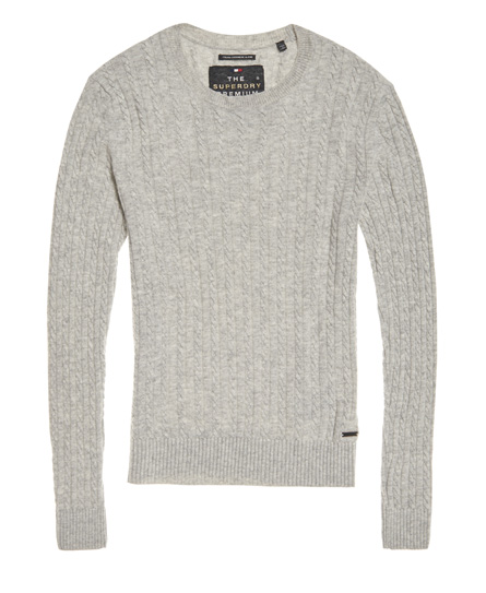 Superdry Luxe Mini Pullover mit Zopfmuster