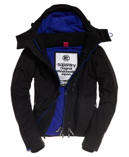 Superdry Pop Arctic SD-Windcheater mit Kapuze und Reißverschluss | Bekleidung > Jacken > Windbreaker | Schwarz | Rumpf: nylon 100%| innenfutter: polyester 100%| rippstrick: polyester 97%|elastan 3%| | Superdry