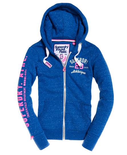 Track & Field Zip Hoodie In Blue