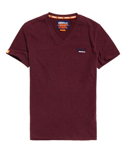 Superdry Superdry Orange Label Vintage T-shirt med broderi og V-udskæring