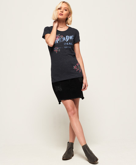 Superdry Arizona Puff Embroidery T-Shirt