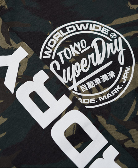Superdry Worldwide Ticket Type 迷彩長袖 T 恤