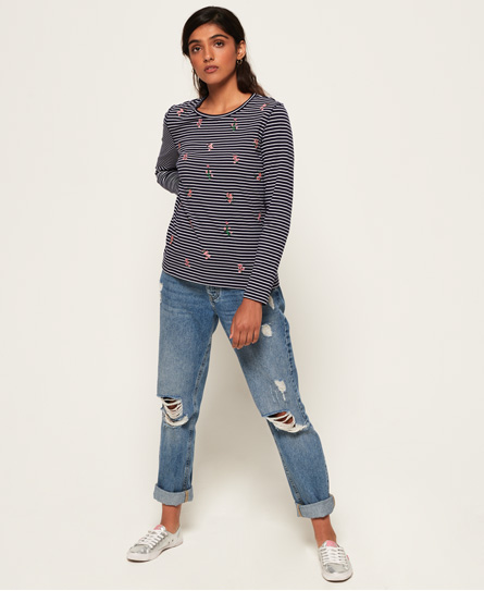 Superdry Fargo Embroidery Top