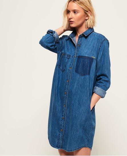 Superdry Oversized Denim Shirt Dress