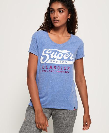 Superdry Superdry Slimfit boyfriend-T-shirt med klassisk logo og broderi
