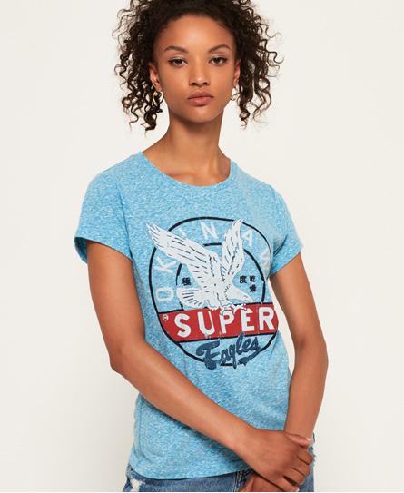 T-shirt Blu donna T-shirt Gasoline moda abbigliamento