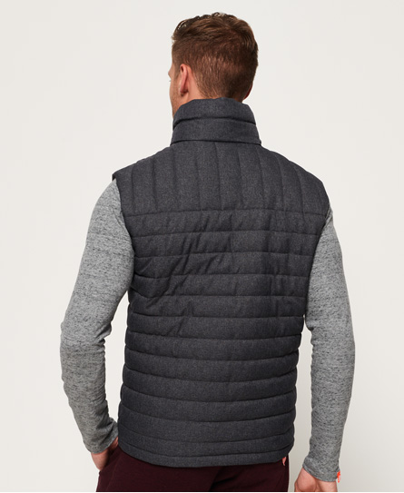 in Gilet doppia tweed Uomo con zip Superdry da Fuji pPqdPxW