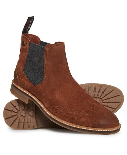Superdry Superdry Brad chelsea boots med brogue-detaljer