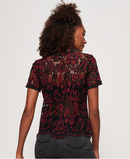 Superdry Tori All Over Eyelash Lace T-Shirt