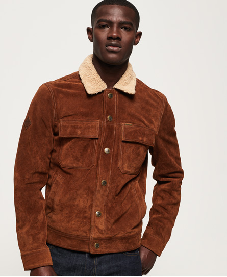 Superdry Giacca Merchant Store Suede Trucker