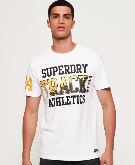 Superdry Superdry Super Track Box Fit T-shirt med metallic design