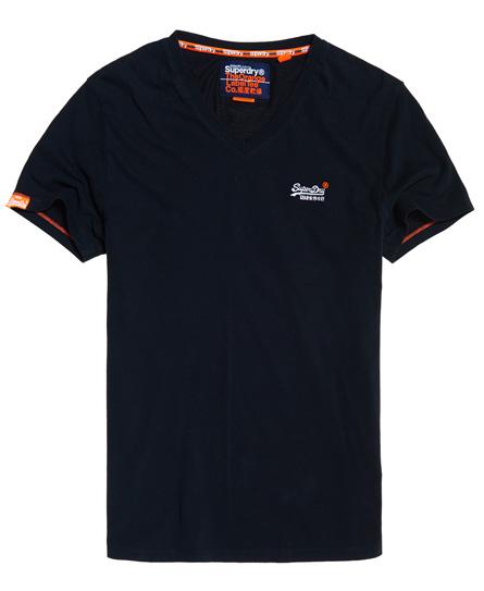 Superdry Superdry Orange Label Vintage T-shirt med V-hals og broderi