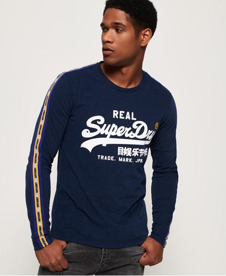 Superdry Superdry Panelstribet Vintage Logo T-shirt med lange ærmer