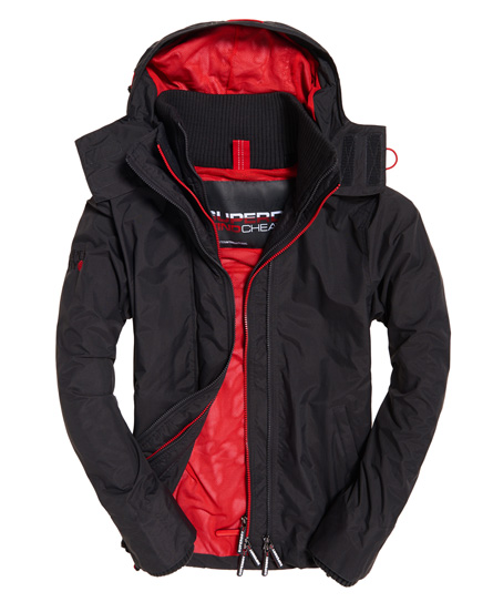Superdry Superdry Technical Pop Zip SD-Windcheater jakke med hætte