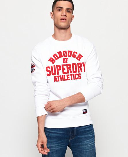 Superdry Superdry Academy trøje med rund hals og ribdesign