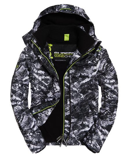 Superdry Superdry Arctic SD-Windcheater jakke med hætte, print og farvet lynlås