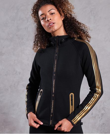 Superdry Superdry Gym Tech Gold hættetrøje med lynlås