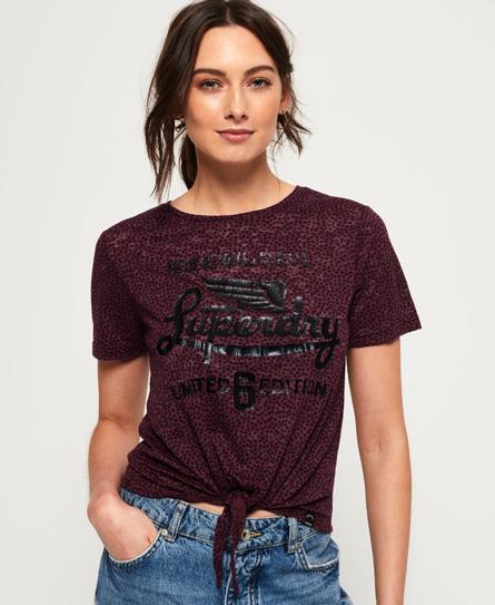 Superdry Superdry Icarus T-shirt med burnout-effekt og knude