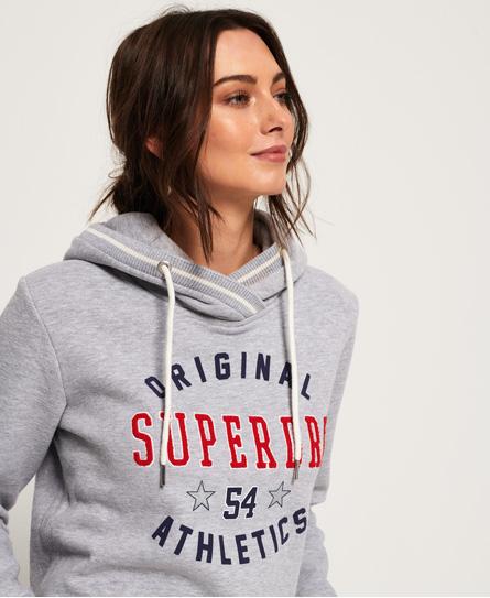 Superdry Verkürztes Playoff Hoodie | Bekleidung > Sweatshirts & -jacken > Hoodies | Grau | Material: baumwolle 55%|polyester 45%| | Superdry