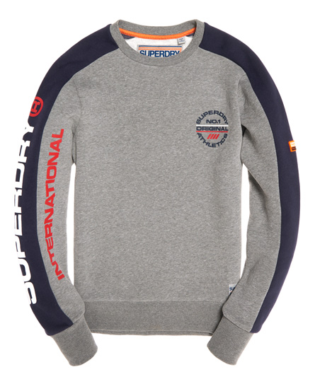 Superdry Pull tricolore à col rond Trophy