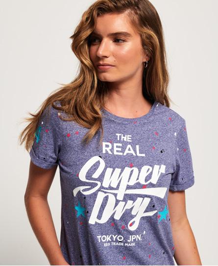 Superdry Superdry Splat Heritage T-shirt i et firkantet snit