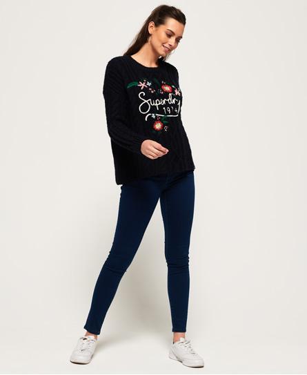 Superdry Alexia Jeggings | Bekleidung > Jeans > Jeggings | Dunkelblau | Material: baumwolle 55%|polyester 31%|lyocell 13%|elastan 1%| | Superdry