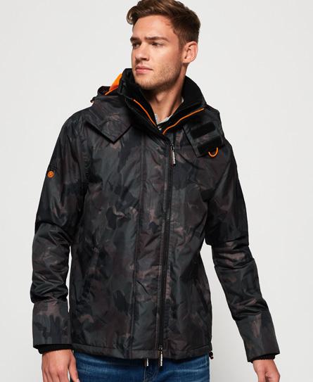 Superdry Superdry Arctic SD-Windcheater jakke med hætte, print og farverig lynlås
