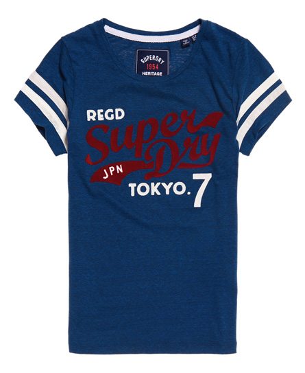 T-shirt Blu donna T-shirt Retro moda abbigliamento - immagine 0