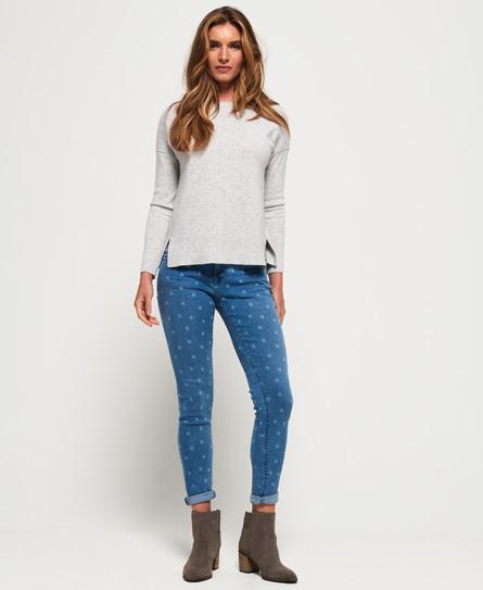 Superdry Cassie Röhrenjeans | Bekleidung > Jeans > Röhrenjeans | Blau | Material: baumwolle 87%|polyester 11%|elastan 2%| | Superdry