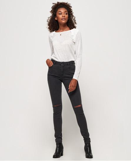 Superdry Sophia Röhrenjeans | Bekleidung > Jeans > Röhrenjeans | Schwarz | Material: baumwolle 98%|elastan 2%| | Superdry