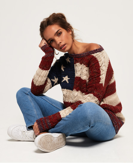 Superdry Superdry Kabelstrikket Americana trøje