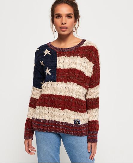 Americana 麻花針織套衫