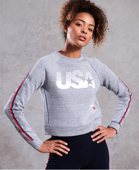Superdry Superdry Kort Gym Tech USA sweatshirt med rund hals