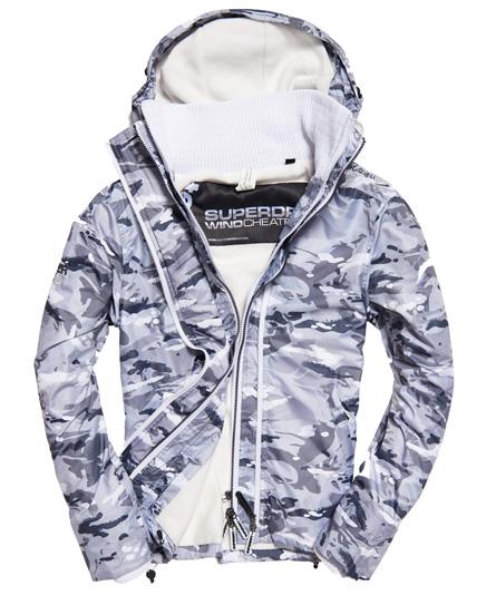 Superdry Superdry Arctic SD-Windcheater jakke med hætte, print og farvestrålende l