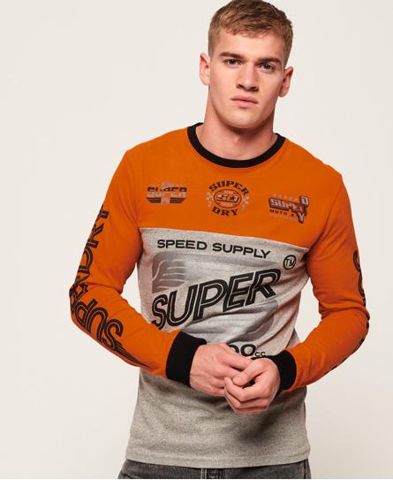 Superdry Superdry Langærmet Dry 500Cc T-shirt med paneldesign
