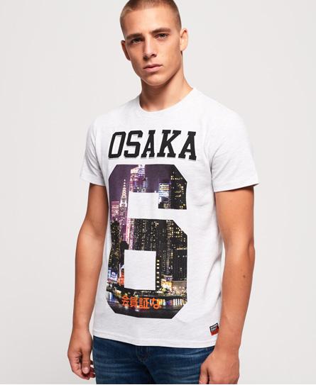 Superdry Superdry Osaka T-shirt med præg og fotoprint