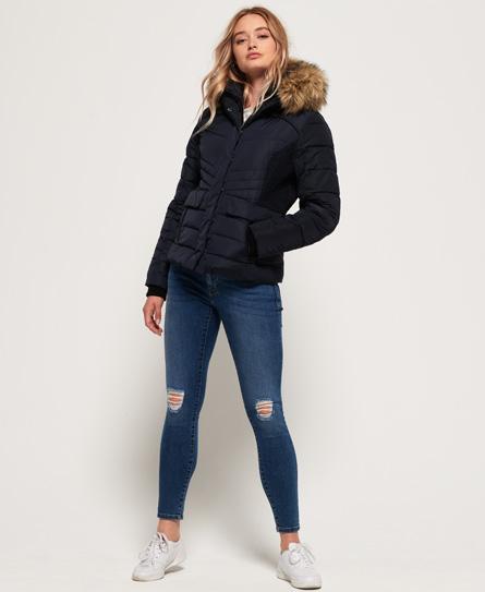 superdry veste de motard glacier vestes et manteaux pour femme. Black Bedroom Furniture Sets. Home Design Ideas