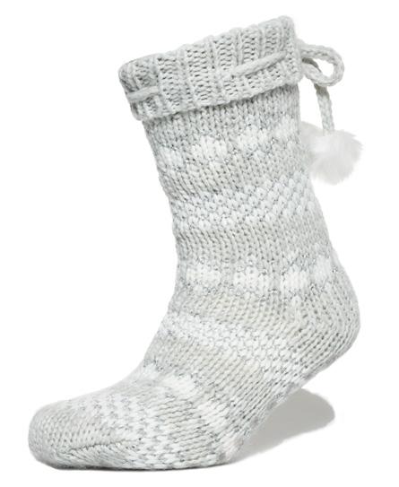 Sparkle Fairisle Slipper Socks