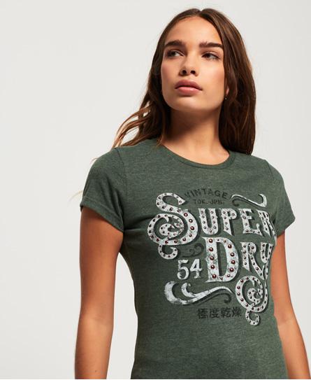 Superdry Superdry Frontier T-shirt med nittebesat logo