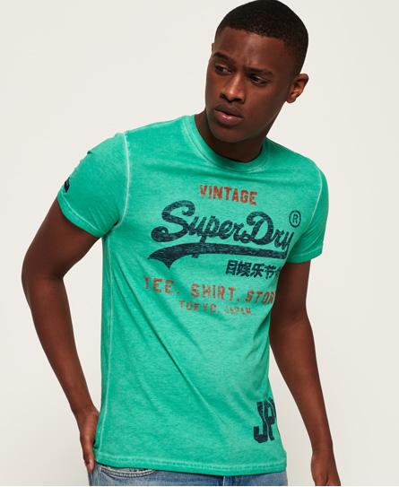 Se Superdry Superdry Shirt Short Duo Overdye Lite T-shirt ved SuperDry