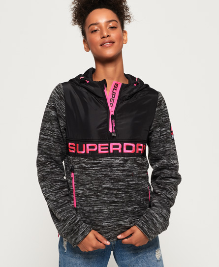 Superdry Storm Hybrid Hoodie zum Überziehen | Bekleidung > Sweatshirts & -jacken > Hoodies | Grau | Rumpf: polyester 100%| rumpf: polyester 100%| | Superdry
