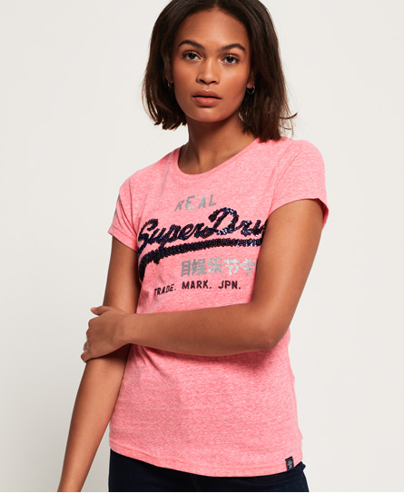 Superdry Superdry Vintage Logo T-shirt med pailletter