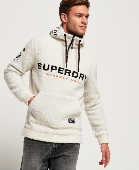 Superdry mountain sherpa half zip overhead hoodie