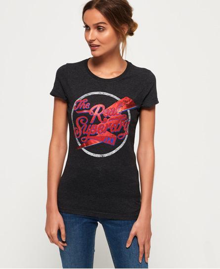 Superdry Superdry Real T-shirt med glans