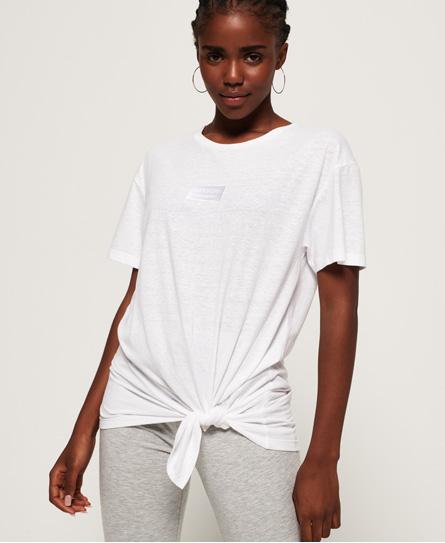 Superdry Superdry Alta T-shirt med knudedetalje