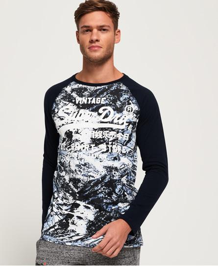 Superdry Shirt Shop T-Shirt mit Tarnmuster und langen Raglanärmeln